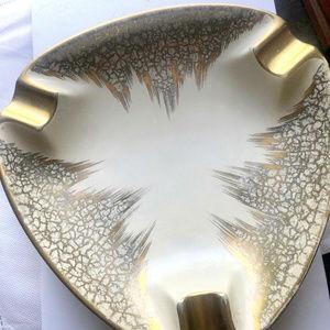 vintage gold atomic starburst ashtray Germany